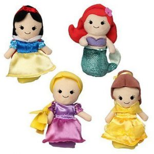 Disney Princess Finger Puppet Set - Snow White, Ariel, Rapunzel, and Belle