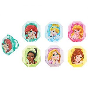 Disney Princess Gemstone Cupcake Rings Party Favors - 24 pcs