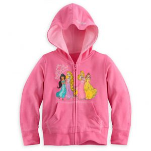Disney Princess Girls Zip Hoodie Jacket