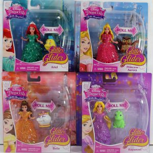 Disney Princess Glitter Glider Doll, Set of 4