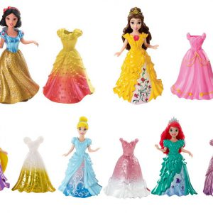 Disney Princess Little Kingdom MagiClip Doll Set of 5 - Snow White, Ariel, Belle, Rapunzel & Cinderella