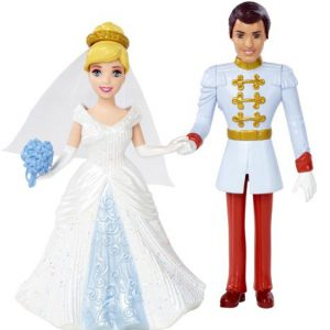 Disney Princess Little Kingdom Magiclip Cinderella Fairytale Wedding Dolls