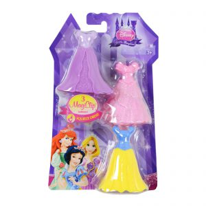 Disney Princess Little Kingdom Royal Fashions - 3 MagiClip Dresses - Snow White