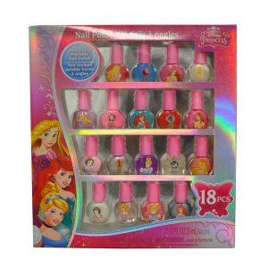 Disney Princess Nail Polish Set Popular 18 Pcs Non-toxic in Window Box