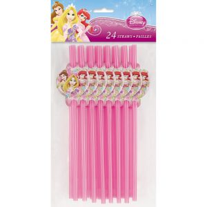 Disney Princess Party Straws, 24ct