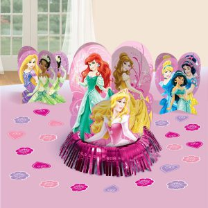Disney Princess Party Table Decorations Kit ( Centerpiece Kit ) 23 PCS - Kids Birthday and Party Supplies Decoration