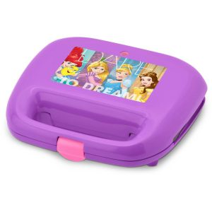 Disney Princess Waffle Maker Makes One Castle and One Crown Waffle (Purple)