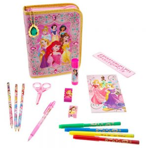 Disney Princess Zip-up Stationery Kit - Pink Bejeweled