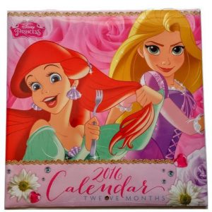 Disney Princesses Gift Set Calendar Notebook Pad Pen Ariel Tiana Cinderella Belle