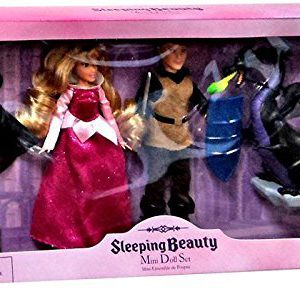 Disney Sleeping Beauty Exclusive Sleeping Beauty Mini Doll Set [Princess Aurora, Prince Phillip, & Maleficent x2]