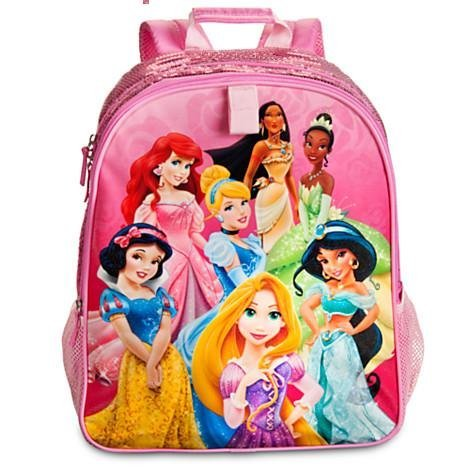 Disney Store Disney Princess Backpack and Lunch Tote/box/bag Set School Supplies