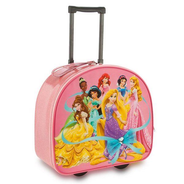Disney Store Disney Princess Rolling Luggage/Carry-On Suitcase: Rapunzel/Ariel+5
