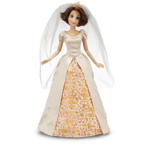 "Disney Store Exclusive Disney Princess Classic Doll Collection Tangled Ever After Rapunzel 12"" Doll in Wedding Gown"