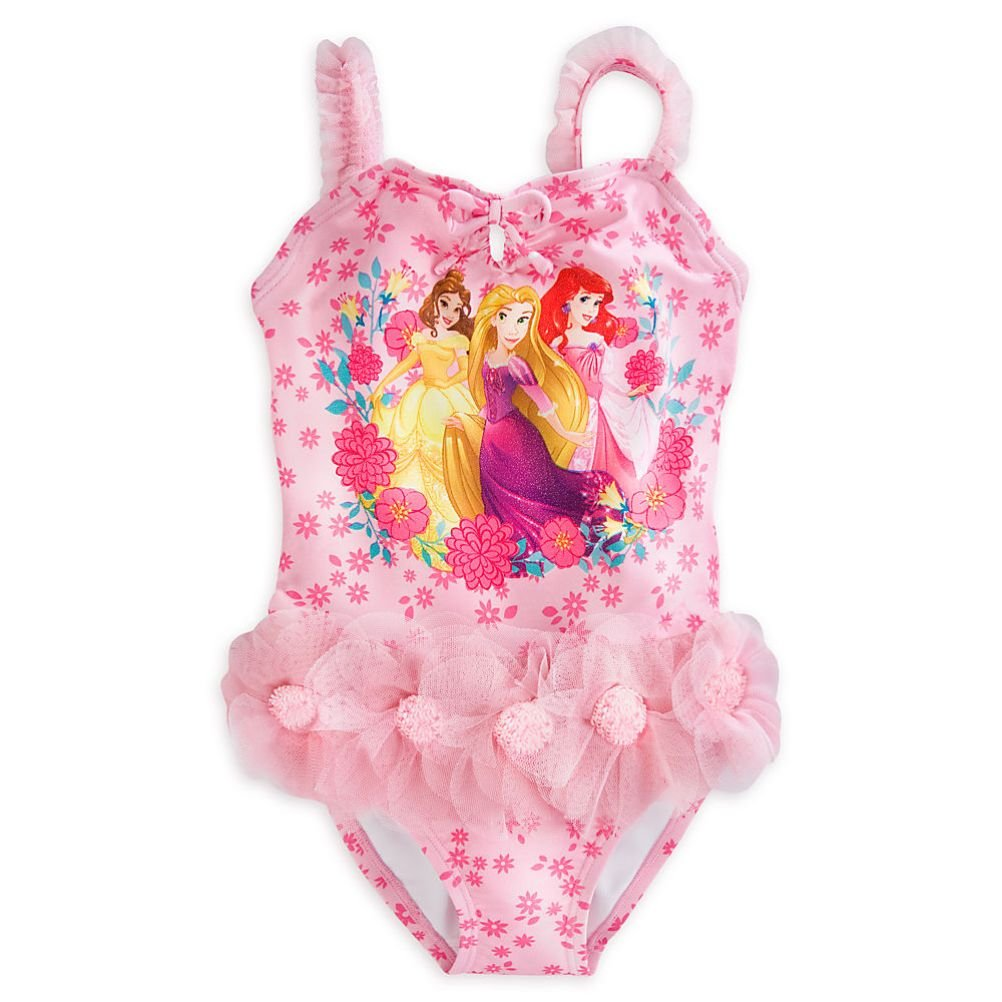 Details about  /Disney Store Princess Tangled Rapunzel Deluxe Two Piece Swimsuit Girl Size 5//6
