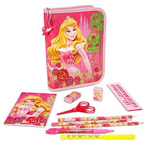 Disney Store Princess Aurora Sleeping Beauty Stationary Art Case Kit School Supplies