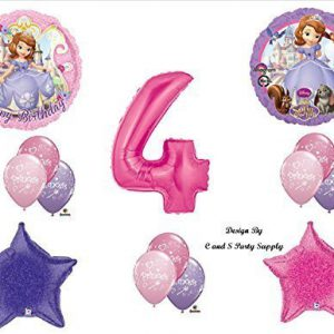 Disney's SOFIA THE FIRST FOURTH 4th Happy Birthday PARTY Balloons Decorations Supplies
