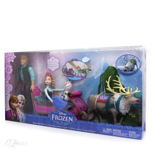 Frozen Disney Royal Sled Gift Set Includes 4 Favorite Characters