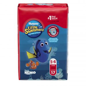Huggies Little Swimmers Disposable Swimpants, Large, 17 Count (Character May Vary)