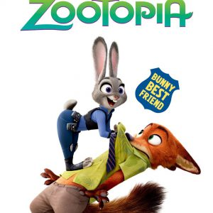 Japan Walt Disney Official Jigsaw Puzzle - Zootopia Judy Hopps and Nick Wilde 108 pcs Pieces Comedy Adventure Film Animation Studios Zootropolis Tenyo