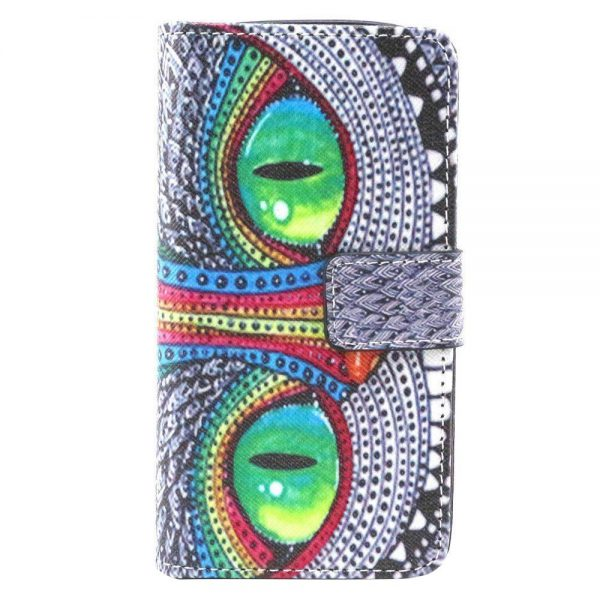 LG LEON C40 Case, Adela Shop 2 in 1 Flip Premium PU Leather Wallet Case Soft TPU Back Built-in Card/Cash Slots Protective Skin With Stand Feature For LG Leon LTE C40/LG Tribute 2 (Owl Eyes)