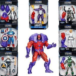"""Marvel Legends Series Captain America Red Onslaught BAF- Set of Seven 6"""" Action Figures"""