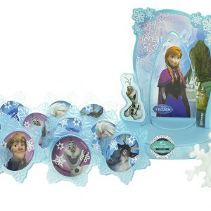 Maven Gifts: Disney Frozen Anna & Elsa Decoset Designer Cake Topper with additional 12 Frozen Cupcake Rings