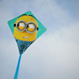 "Minion Despicable Me 2 22 Inch Poly Diamond Kite Stuart 22"" 1 piece EZ Breezy Spring"