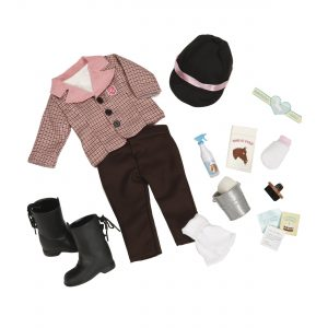 Our Generation Riding Outfit and Horse Care Set for 18-Inch Dolls