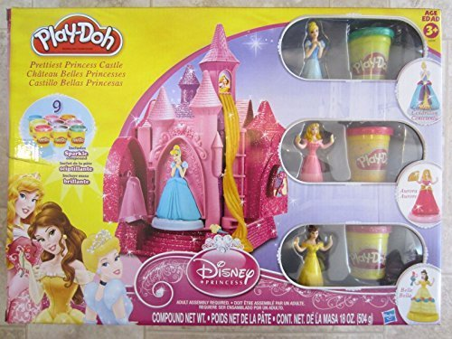 Play-Doh Disney Prettiest Princess Castle with Sparkle Compound Play-Doh