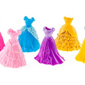 Playkids Disney Princess Little Kingdom MagiClip Fashion Set - 2 Sets of The 3 Dress Set for All 6 Princesses