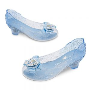 Pretend Play, Clear, Sparkly Cinderella Shoes Size 2/3