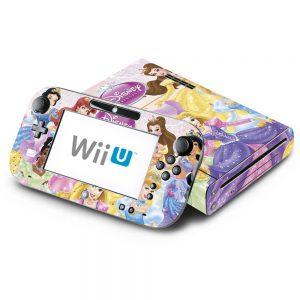 Princess Friends Sparkle Belle Rapunzel Tiana Ariel Decorative Decal Cover Skin for Nintendo Wii U Console and GamePad