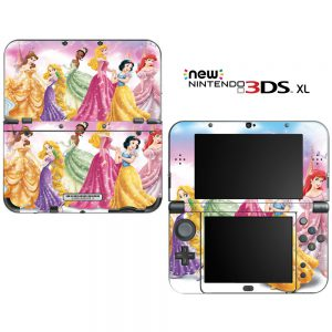 "Princess Friends Sparkle Belle Rapunzel Tiana Decorative Video Game Decal Skin Sticker Cover for the ""New"" Nintendo 3DS XL (2015-2017 Edition)"
