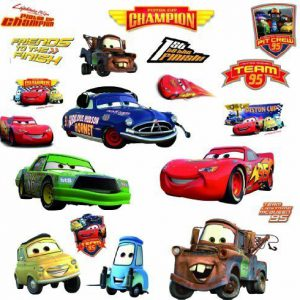 RoomMates Disney Pixar Cars - Piston Cup Champs Peel and Stick Wall Decal