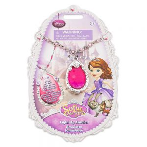 Sofia the First Light-up Amulet Disney Princess Necklace