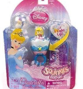 Squinkies Disney Princess Cinderella Light Up Ring Set