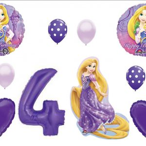 Tangled Rapunzel Disney 4TH BIRTHDAY PARTY Balloons Decorations Supplies by Balloon Emporium