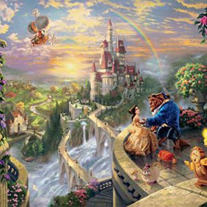 "Thomas Kinkade The Disney Dreams Collection: Beauty and The Beast Falling in Love Puzzle, 750 Pieces, 24"" X 18"""