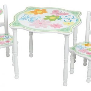 Toy Vault Cabbage Patch Kids Wooden 3 Piece Table & Chair Set