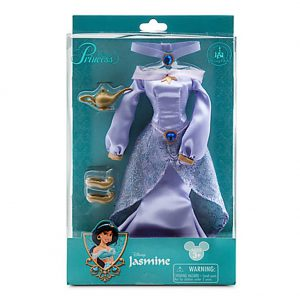 Walt Disney Parks Exclusive Aladdin Jasmine Doll Costume Set With Dress, Lamp, Shoes and Necklace
