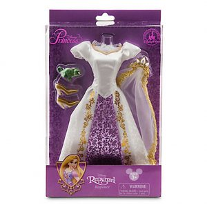 Walt Disney Parks Exclusive Tangled Princess Rapunzel Doll Costume Set with Wedding Gown Tiara, Veil, and Pascal