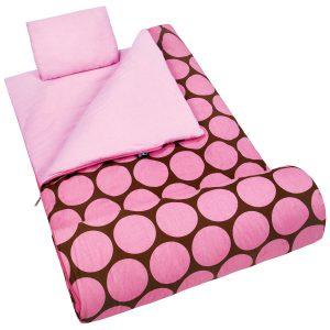 Wildkin Sleeping Bag, Big Dot Pink